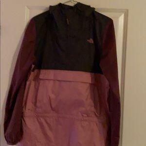 Women's North Face pink /purple wind jacket XS